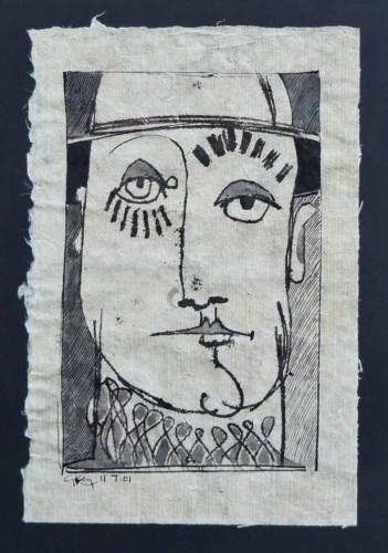 361 - Geoffrey Key, Pierrot Study II, ink.