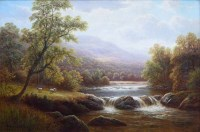 405 - William Mellor, On the Wharfe, Yorkshire, oil.