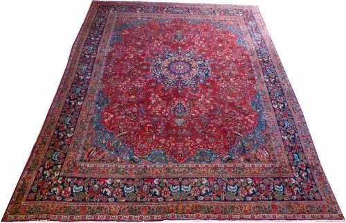 Lot 472-12.7 x 9.8 mashad carpet.