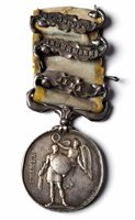 36 - Crimea Medal with three clasps.