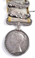 Lot 36-Crimea Medal with three clasps.