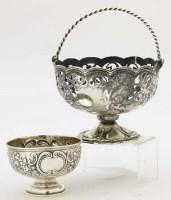 Lot 302 - Silver sweet basket and sugar bowl.