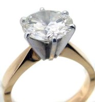 Lot 330-Single Stone Diamond Ring Approx 2.8ct in