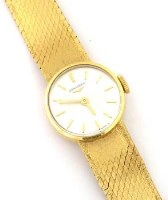 423 - 18ct gold Longines bracelet watch