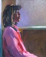 439 - Fritz Aigner, Female portrait, oil.