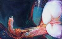 487 - Fritz Aigner, Composition, oil.