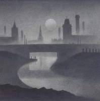 576 - Trevor Grimshaw, Evening Canal, pencil.