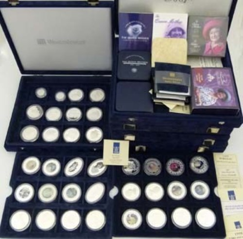 263 - Approximately 125 Royal Mint silver crowns and