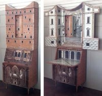 740 - Fornasetti bureau bookcase