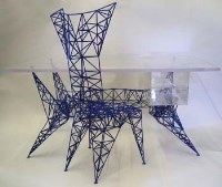 745 - Tom Dixon 'Pylon' desk and chair