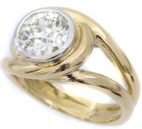 200 - Single stone diamond ring in 18ct yellow gold