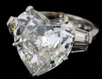 222 - Heart cut diamond ring, approximately 8.46ct, in