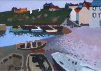 237 - Donald McIntyre, White Markers, Crail, acrylic.