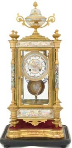 Lot 397-French mantel clock.