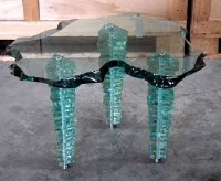 457 - Danny Lane glass coffee table