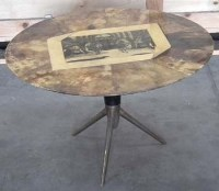468 - Fornasetti circular coffee table