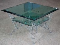 540 - Tom Dixon pylon coffee table
