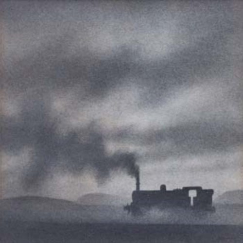 639 - Trevor Grimshaw, Passing Locomotive, graphite.