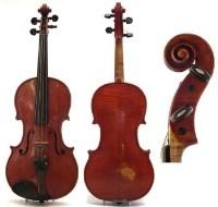 74 - Violin labelled Vittorio Bellarosa Via Michele Cammarano No.10
