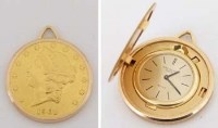 628 - Patek Philippe $20 coin watch, cased