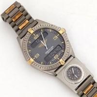 287 - Breitling Navitimer titanium wristwatch