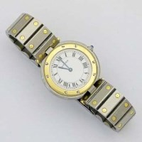 424 - Cartier Santos Quartz wristwatch.