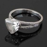 Lot 257-Single stone heart-cut diamond ring by Boodles