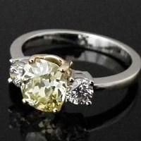 Lot 338-Natural fancy yellow diamond ring, 1.83ct