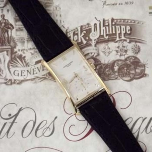 366 - Patek Philippe 18ct gold wristwatch, Ref: 1593,