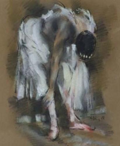 439 - Harold Riley, Ballerina, pastel.
