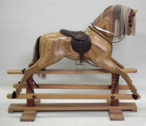 577 - Relko laminated rocking horse 1982