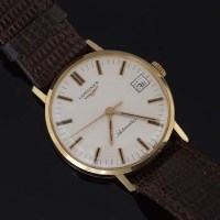 535 - Early 1970's Longines man's 18ct wrist watch.