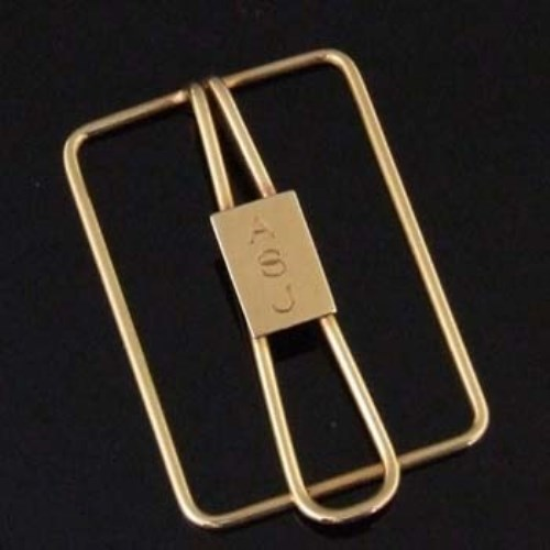 Lot 345-Tiffany & Co 14k gold paper clip, the rectangular