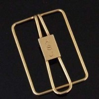 345 - Tiffany & Co 14k gold paper clip, the rectangular