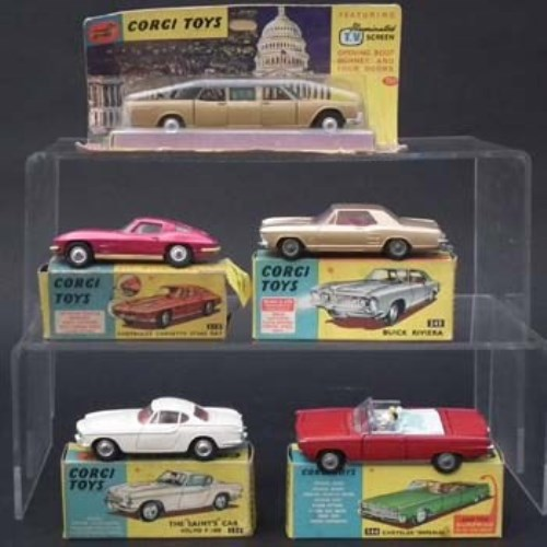 Lot 133-Five Corgi boxed cars