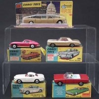 133 - Five Corgi boxed cars