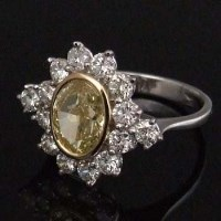 Lot 258-Certified fancy yellow diamond 2.01ct