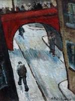 376 - William Turner, Mersey Square, Stockport, oil