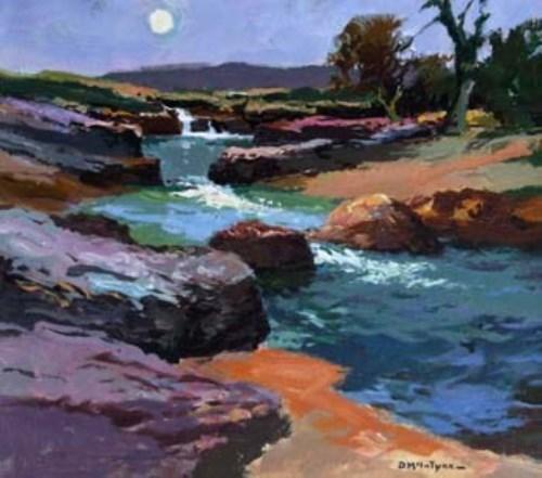 418 - Donald McIntyre, River Wharfe No. 3 (Langstrathdale), acrylic