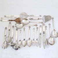 282 - Georg Jensen silver Acanthus flatware (96 pieces)