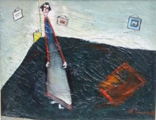 4 - William Turner, Woman in a Room, oil