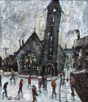 38 - William Turner, Church in Cheetham Hill, oil