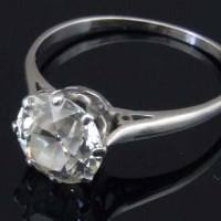 Lot 329-Single stone diamond ring, approx 2.09ct in white