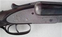 Lot 110-Lang and Hussey 12 bore shotgun