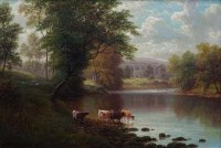 115 - William Mellor, Bolton Abbey from the Wharfe, Yorkshire, oil