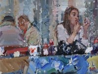 1 - Don McKinlay, A Thoughtful Moment, Rawtenstall Market, oil