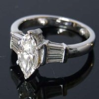 Lot 336-Colourless, flawless single stone marquise