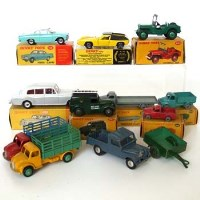 Lot 500 - Collection of eight boxed dinky cars and three unboxed.