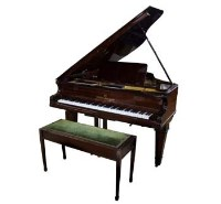 751 - Rosewood boudoir Grand piano & stool