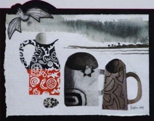 95 - Mary Fedden, Still life, watercolour